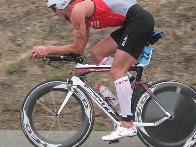 Ain-Alar Juhanson racing at the Wildflower Triathlon