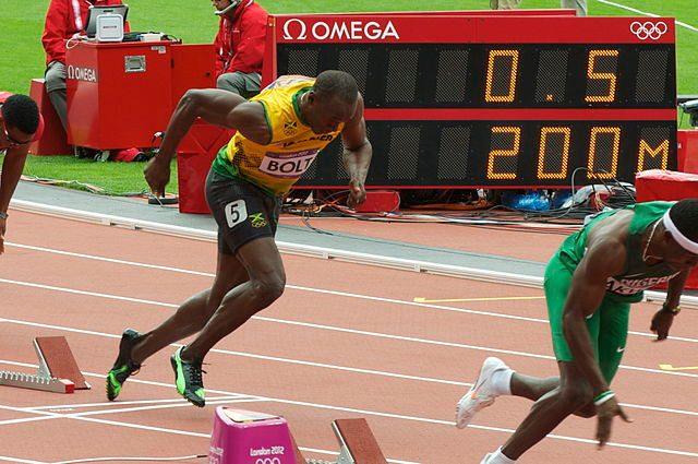 Usain Bolt at the London 2012 Olympics