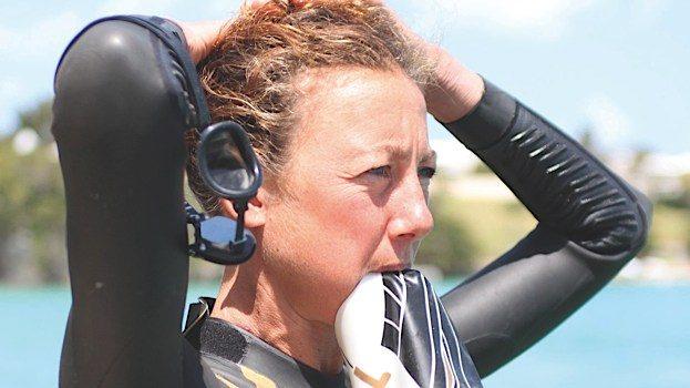 Chrissie Wellington in swim training