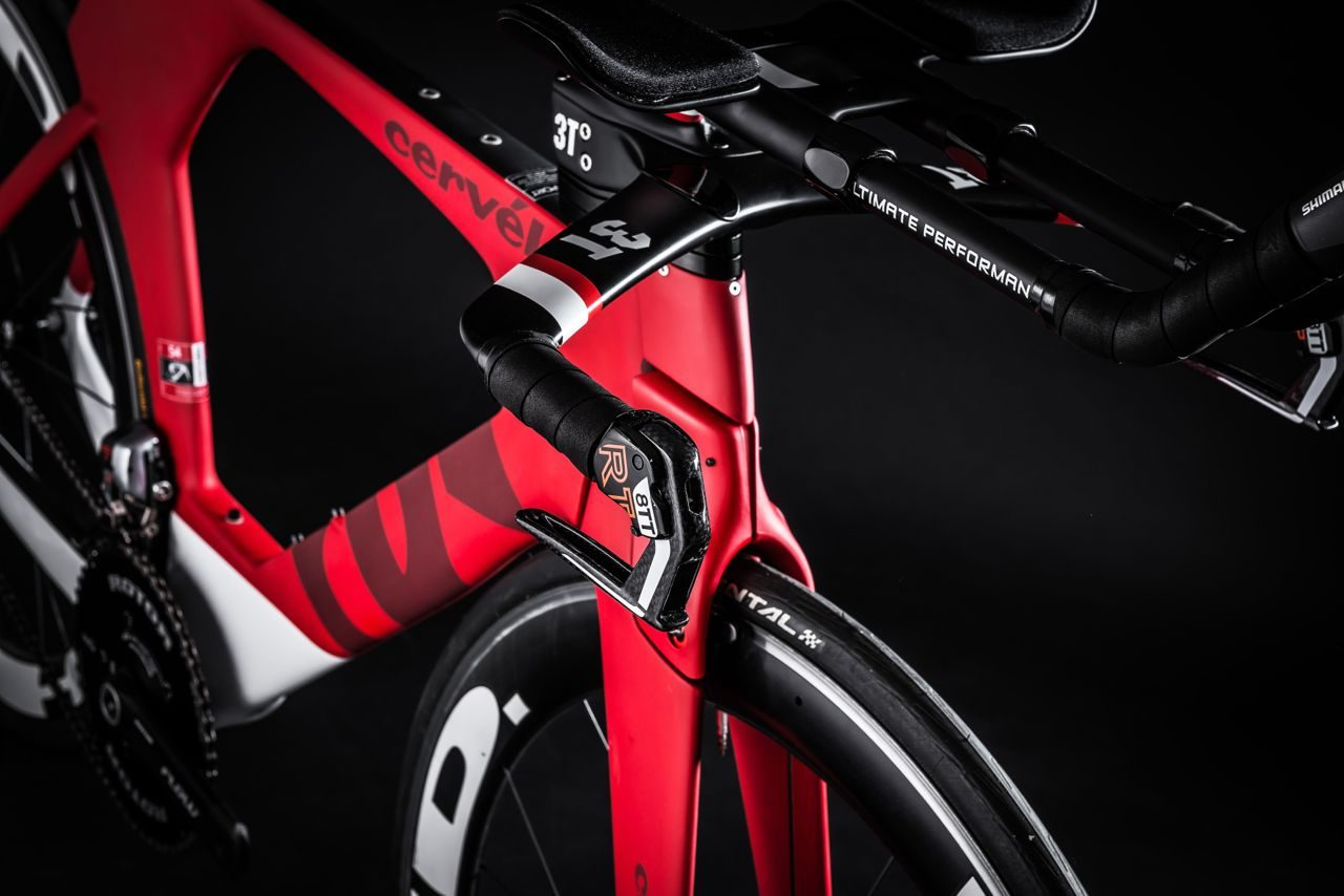 Aero profiles on Cervélo P5 Six Di2 triathlon bike