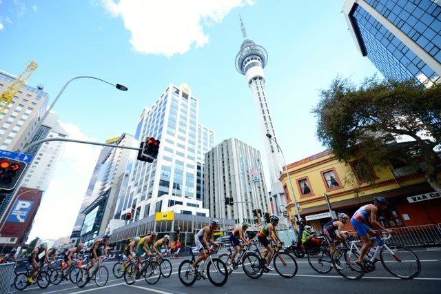 Triathlon racing in Auckland