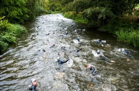 Swimmers at Hever Castle Triathlon