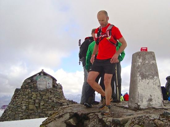 Sean McFarlane at the summit of Ben Nevis