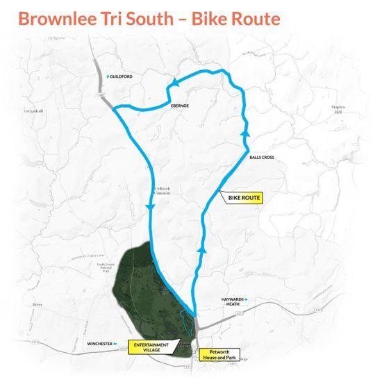 Brownlee Tri South bike route