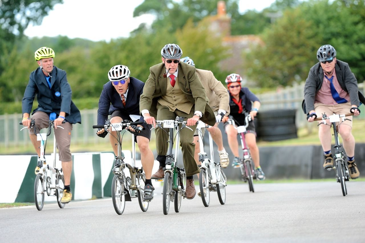 Martyn Brunt takes part in the Brompton World Championships