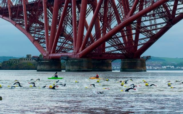Swimmers in the Firth of Forth
