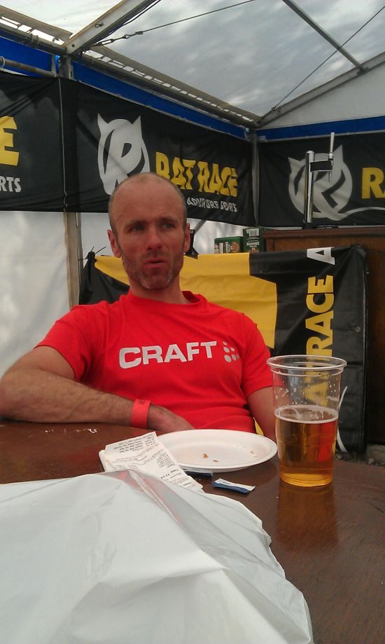 Sean McFarlane post-race at City to Summit