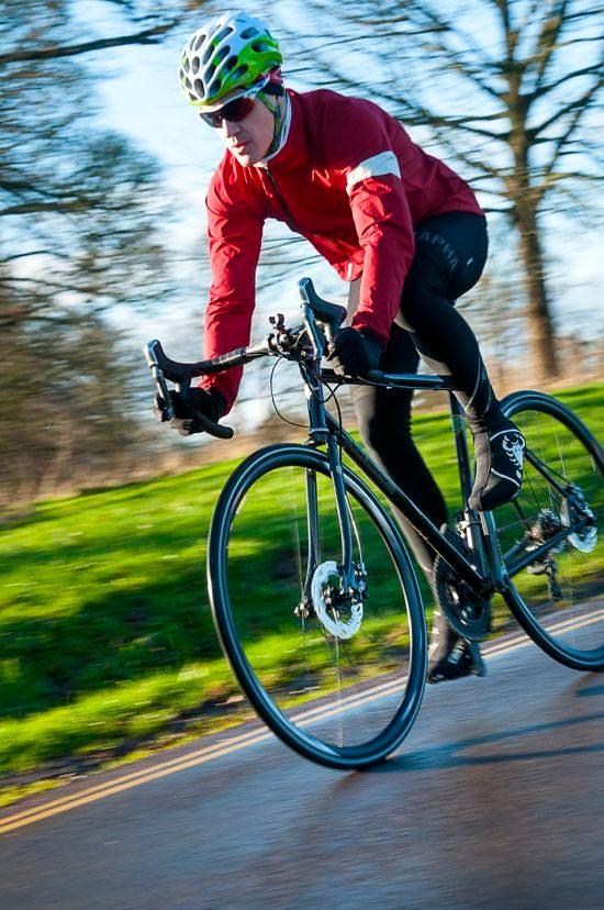Riding Shimano R785 hydraulic disc brakes