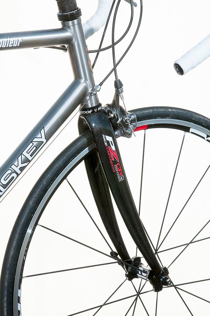 Carbon forks on Lynskey Rouleur road bike