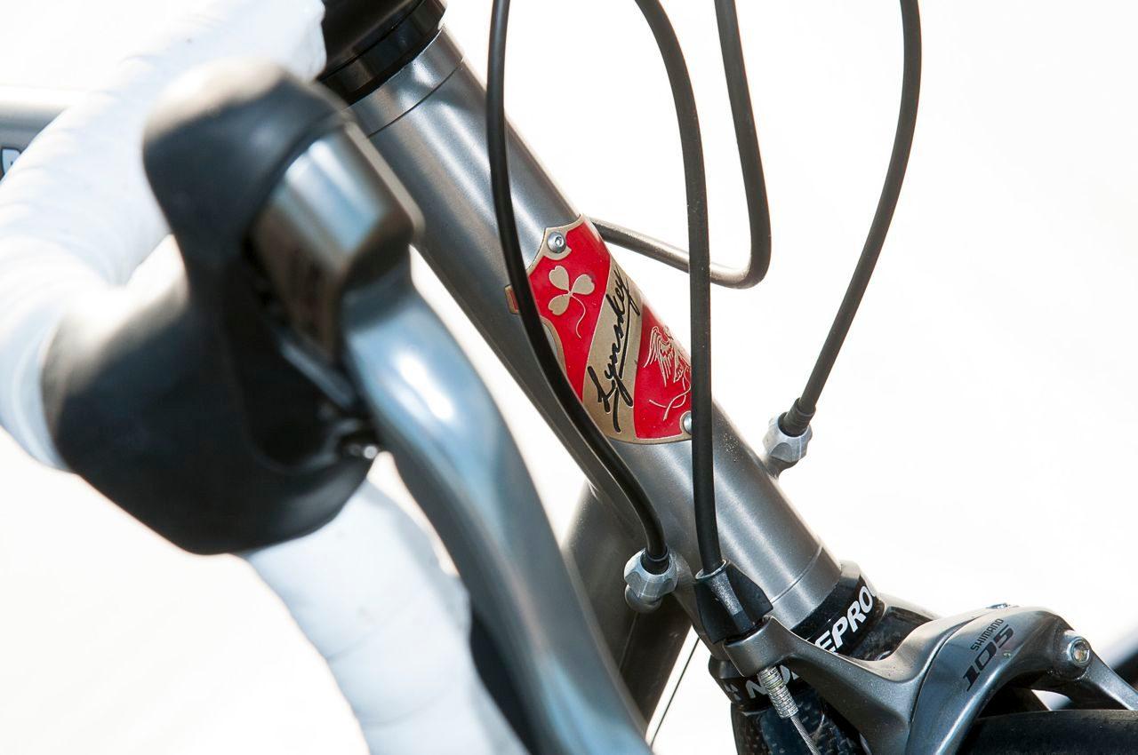 Stem badge on Lynskey Rouleur road bike