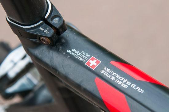 BMC Team Machine SLR01 top tube