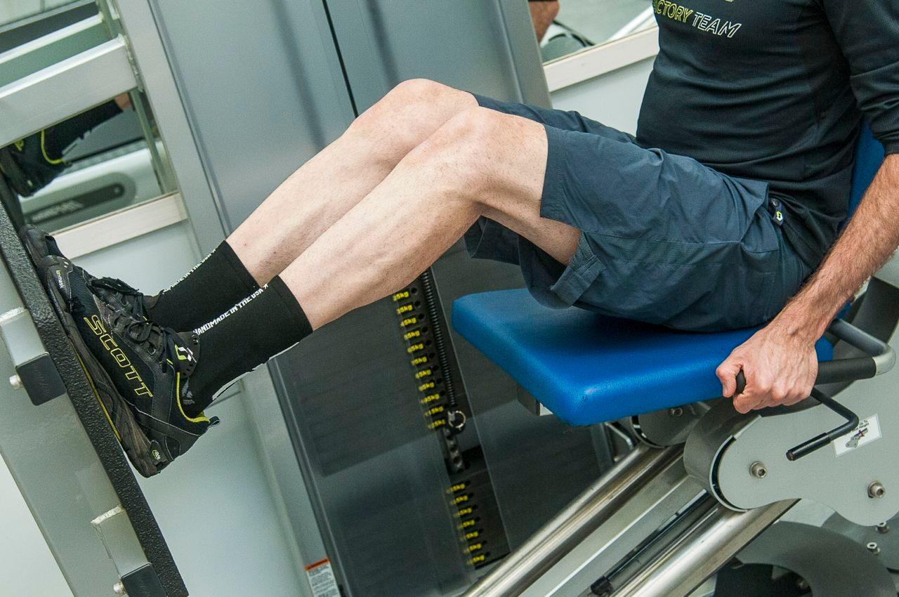 Joe Beer doing strength work