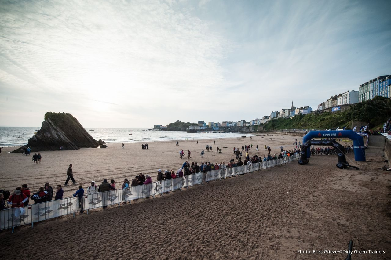 The run to T1 at Ironman Wales 2014