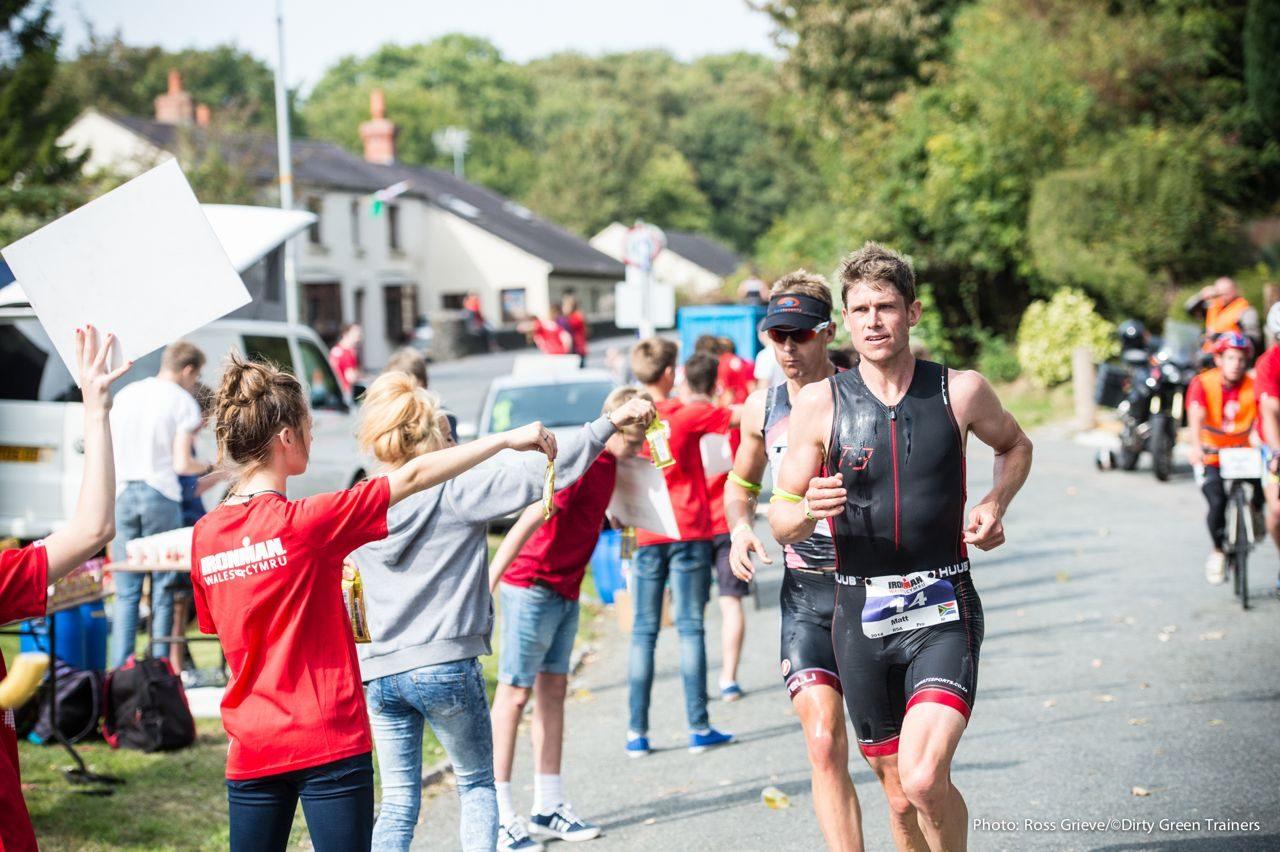 Athletes on the run at Ironman Wales