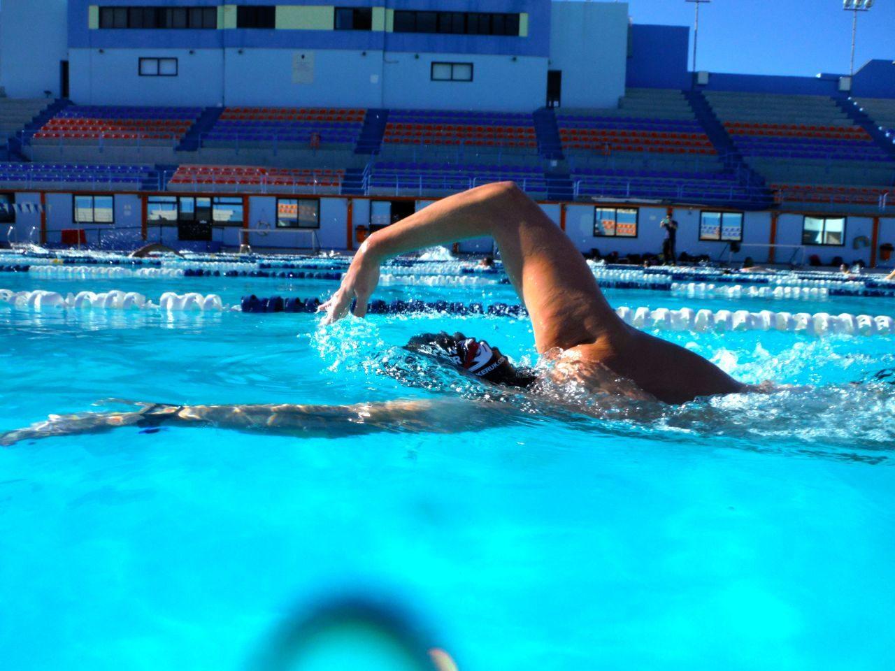 Adam Walker swimming the 'Ocean Walker' stroke