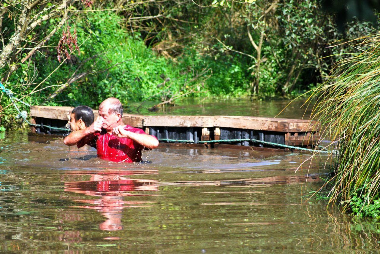 Athlete going through water at Tuff Enuff 2014