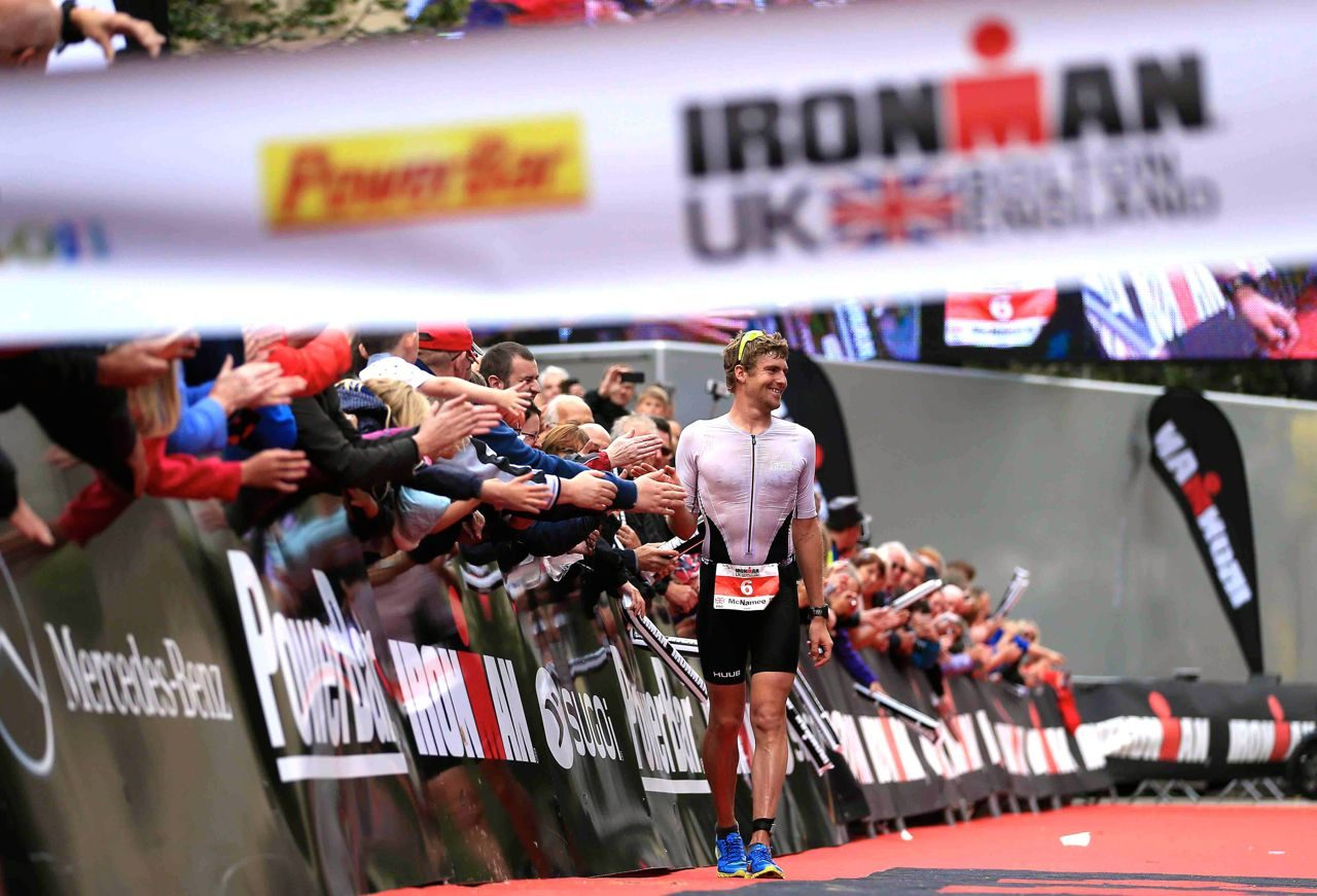 David McNamee wins Ironman UK