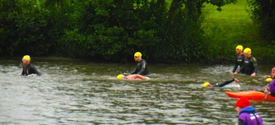David Pawsey in the swim