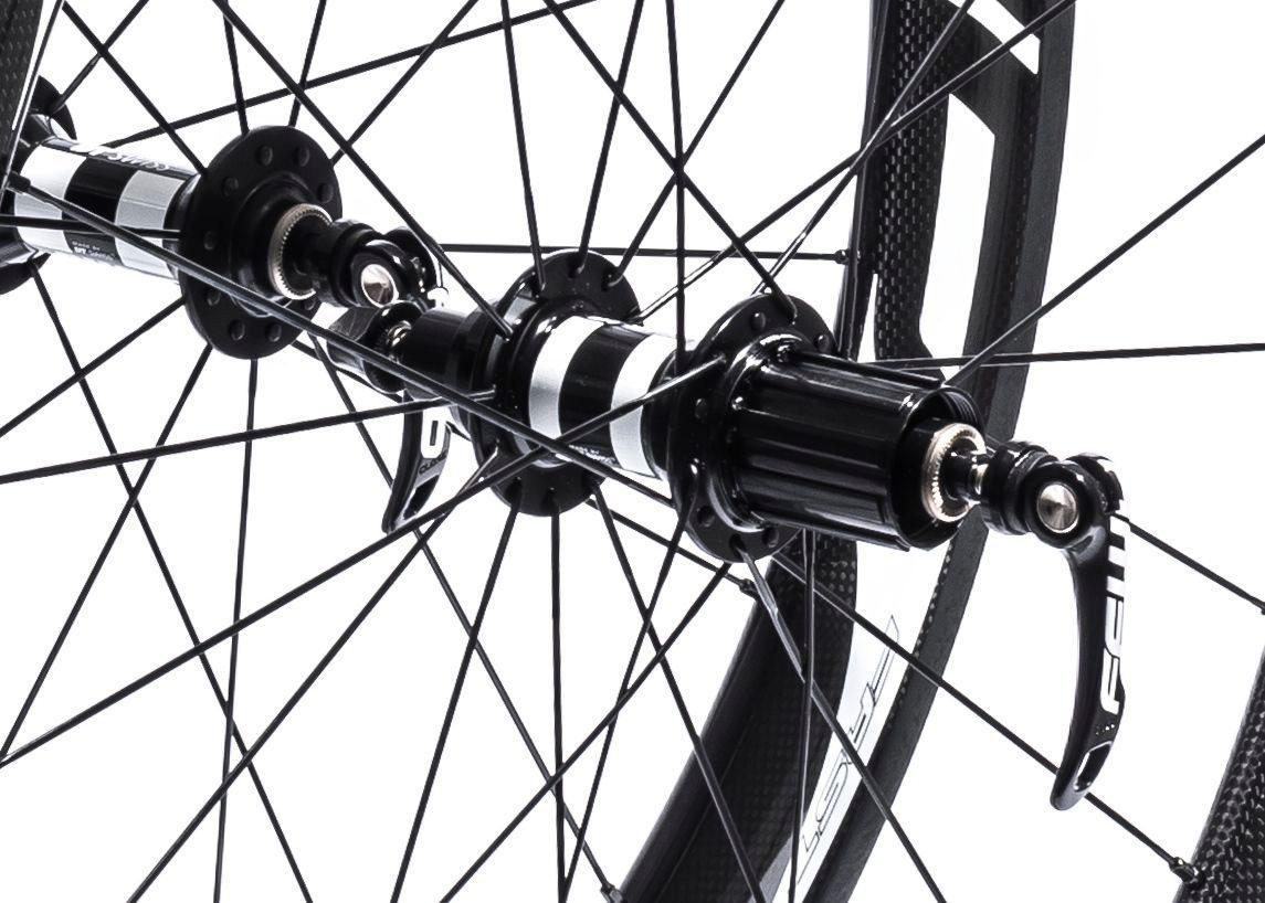Detail on FFWD DT240 bike wheels
