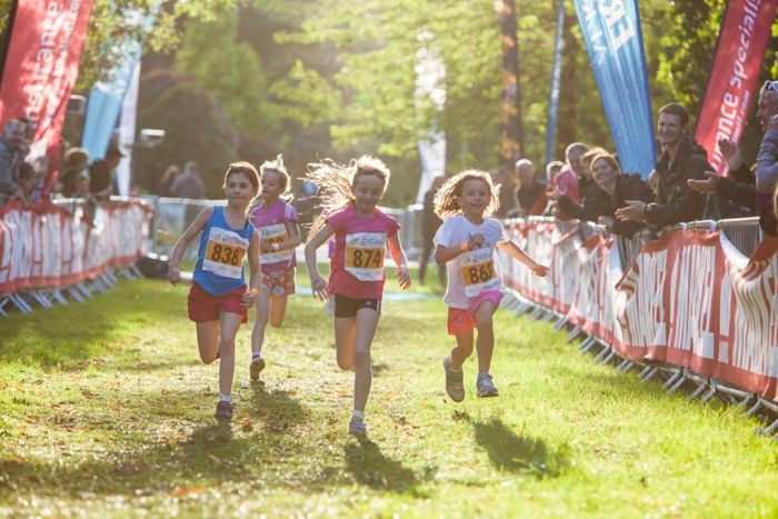 Kids running at Hever Castle Triathlon