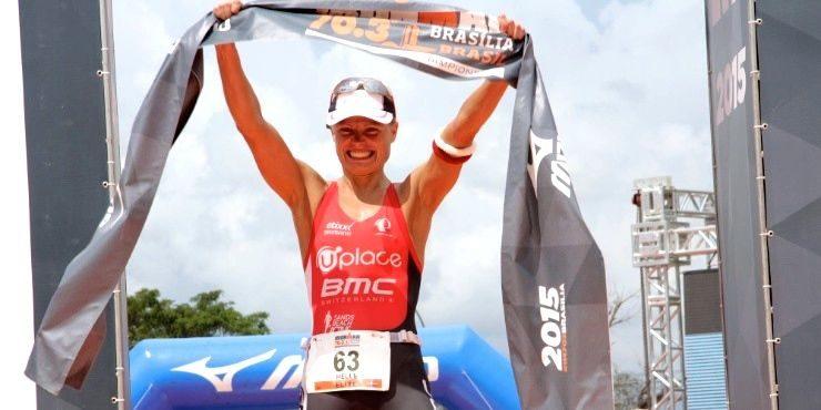 Helle Frederiksen wins Ironman 70.3 Brazil