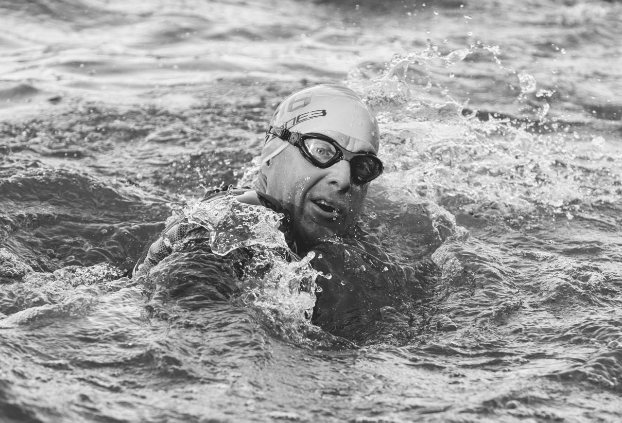 Martyn Brunt swimming in IsoMan