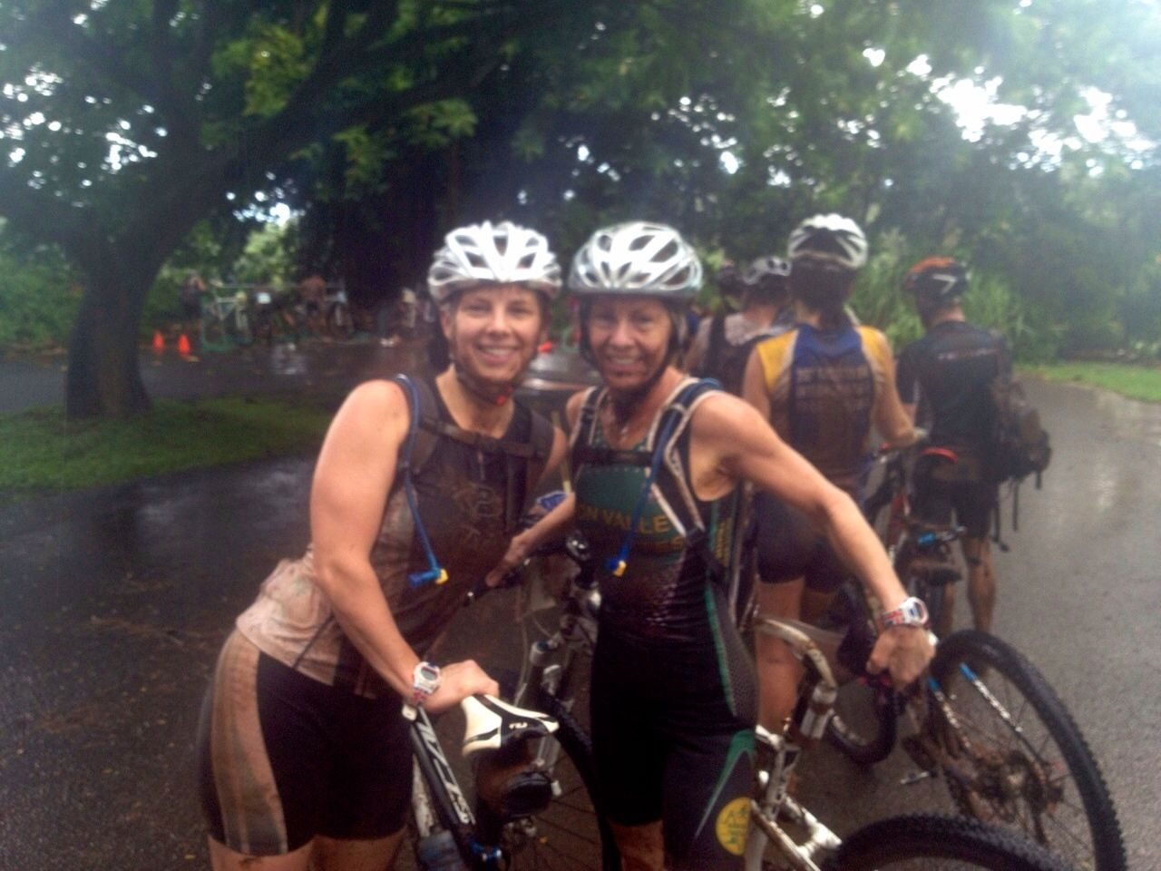 Leanne Tiley and her mum at Xterra world champs 2014