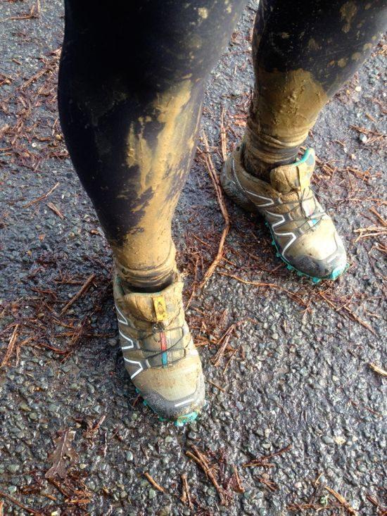 David and his muddy legs