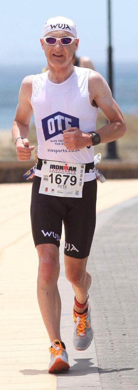 Peter Slater on the run