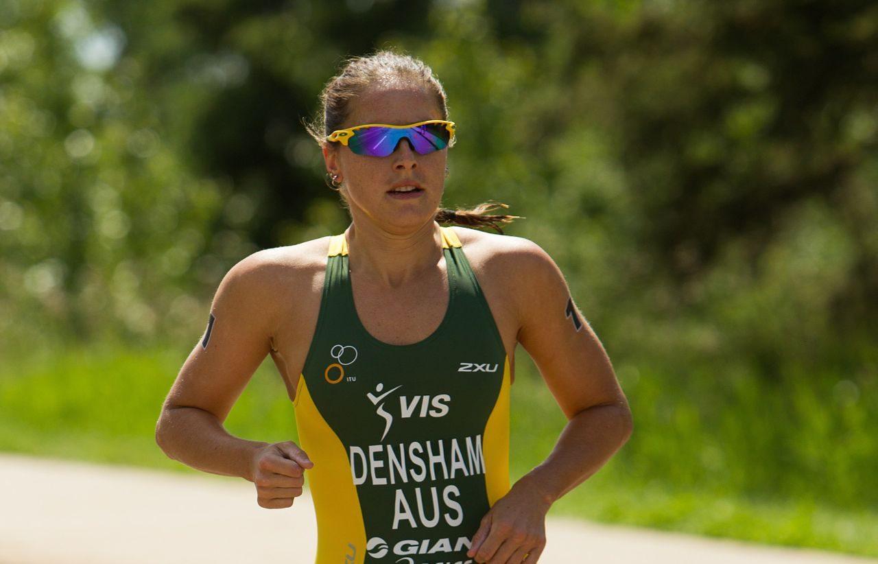 Erin Densham in a race