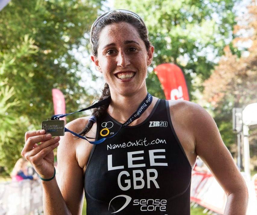 India Lee at Hever Triathlon 2014