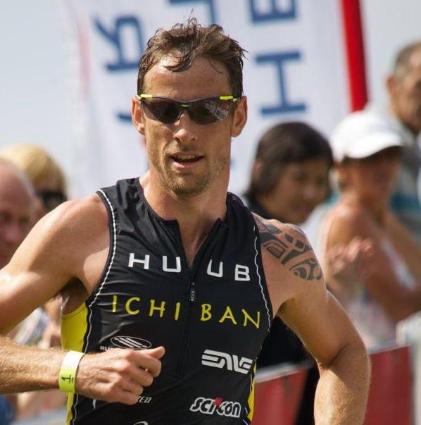 Jenson Button racing at the Jenson Button Trust Triathlon