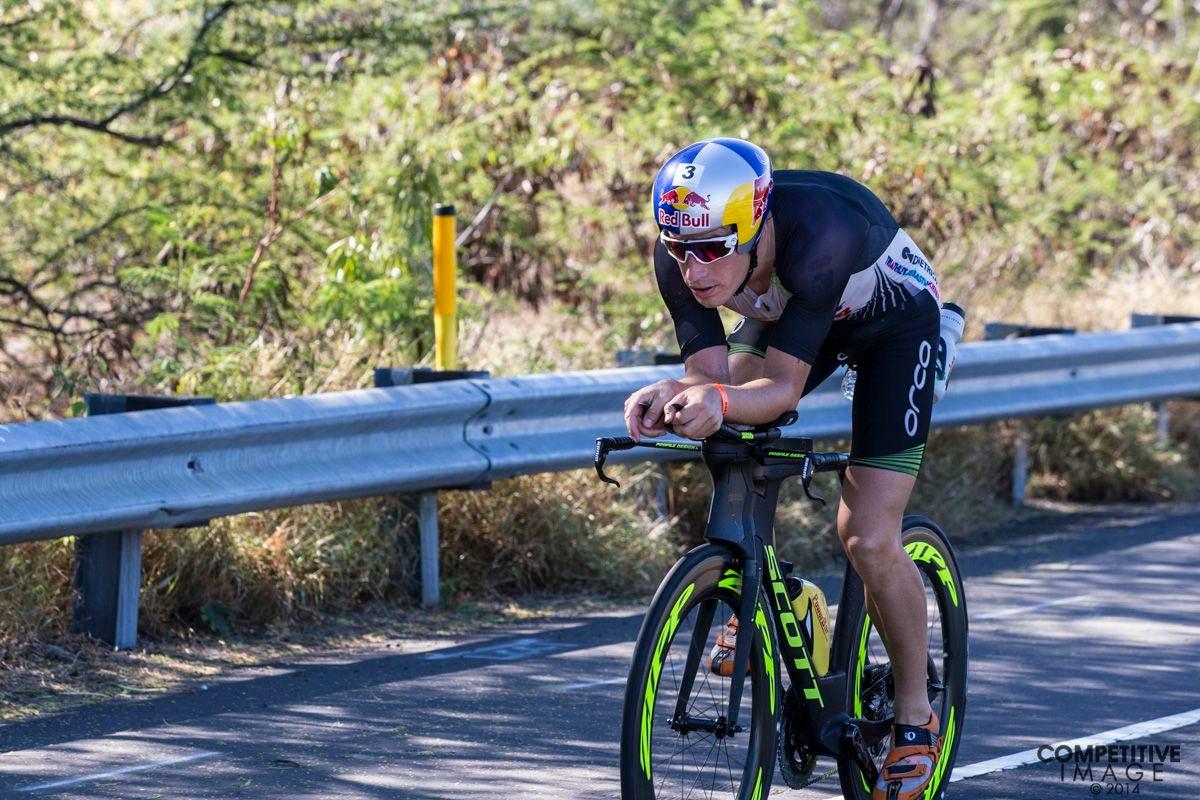 Sebastian Kienle racing at Kona 2014