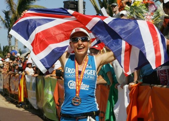 Lucy Gossage takes the win at Ironman Lanzarote earlier in the year