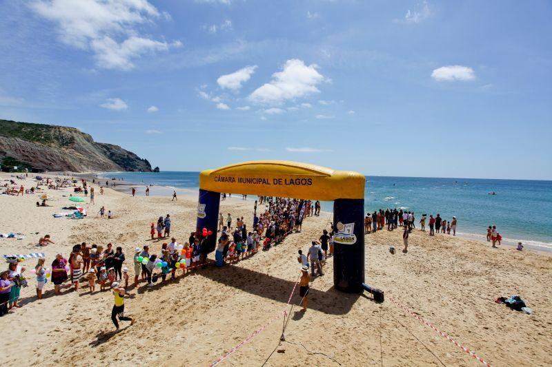 Start of Martinhal Triathlon in Algarve, Portugal