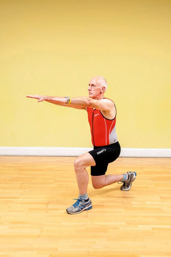 Gym workouts – forward lunge