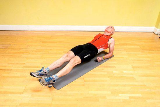 Gym workouts – reverse plank