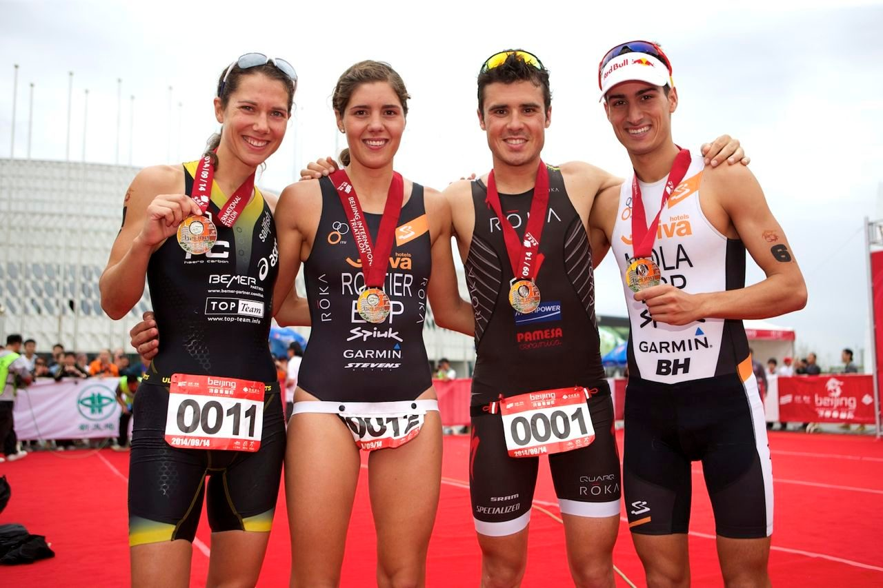 Winners of Beijing Triathlon 2014