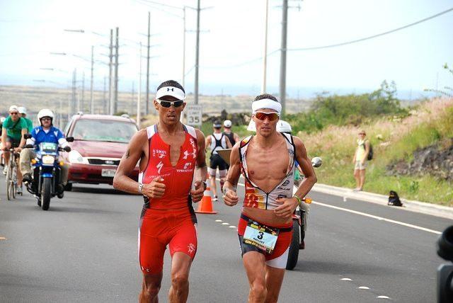Chris McCormack racing in Kona
