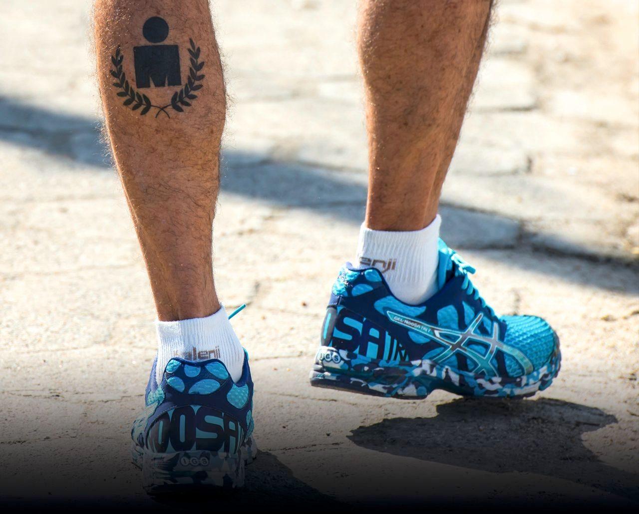 Ironman athlete on the run