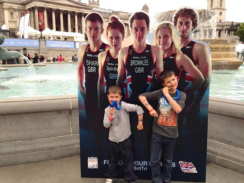 Mark's sons in Trafalgar Square