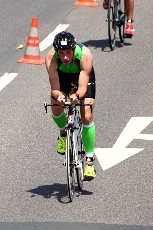 Max Curle on the bike at Ironman Frankfurt 2014