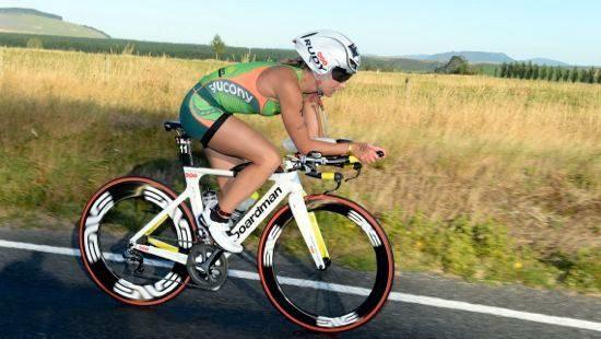Meredith Kessler on the bike