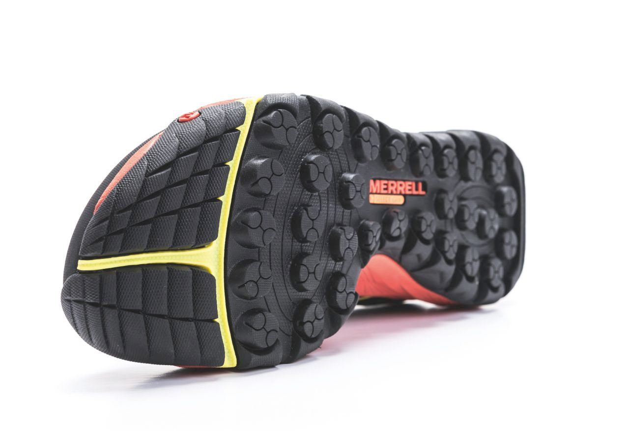 Sole on Merrell All-Out Rush trail shoes