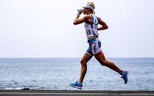 Mirinda Carfrae on the run at Ironman Hawaii