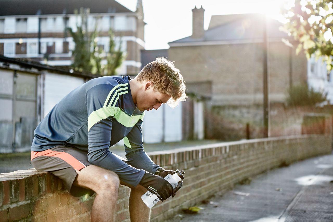 Triathlete in training