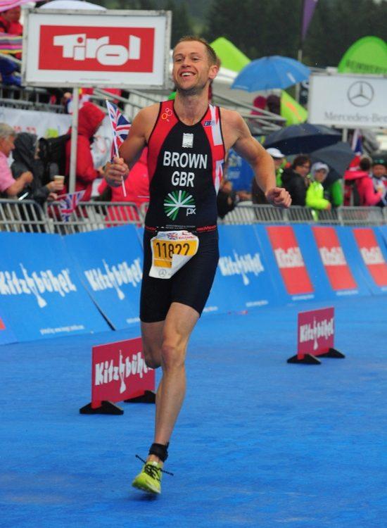Paul Brown running at the European Triathlon Sprint Championships