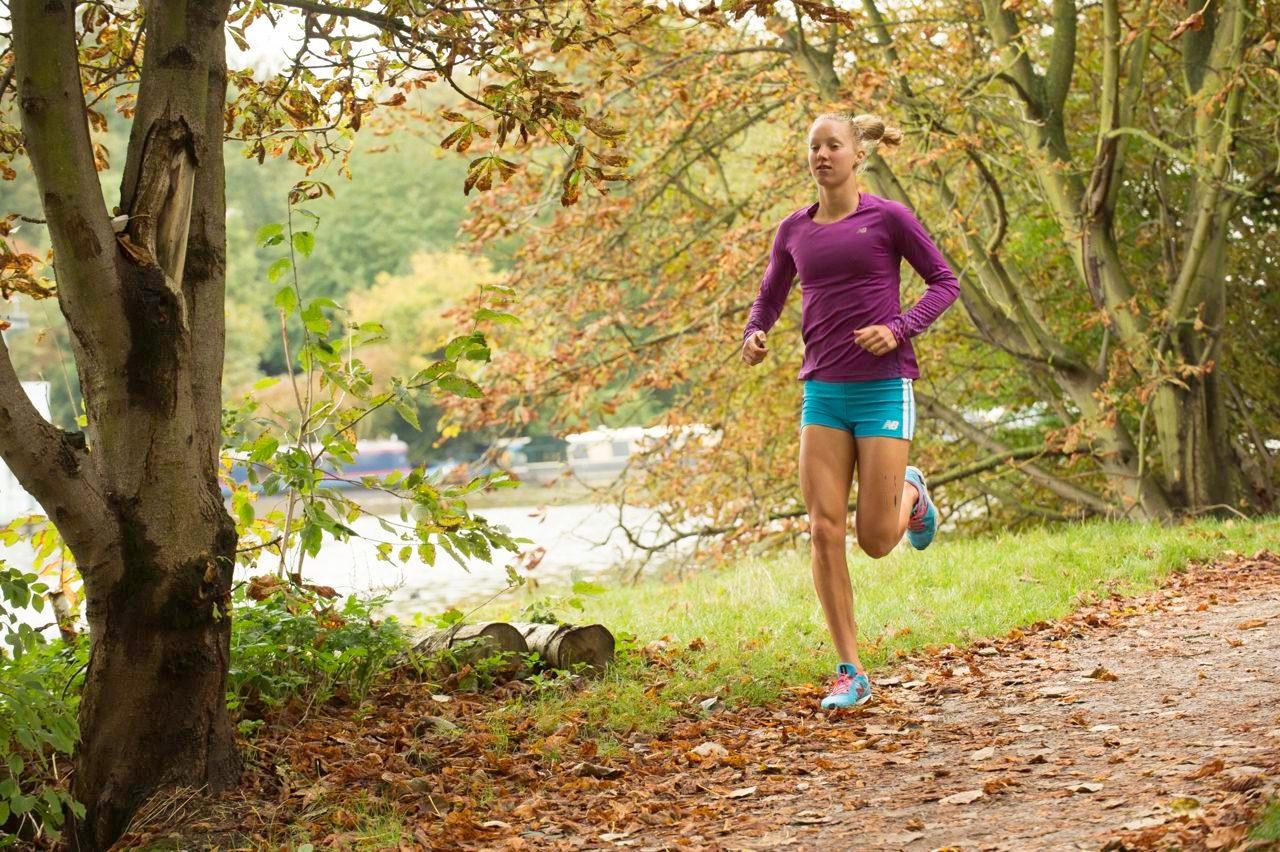 Emma Pallant in run training