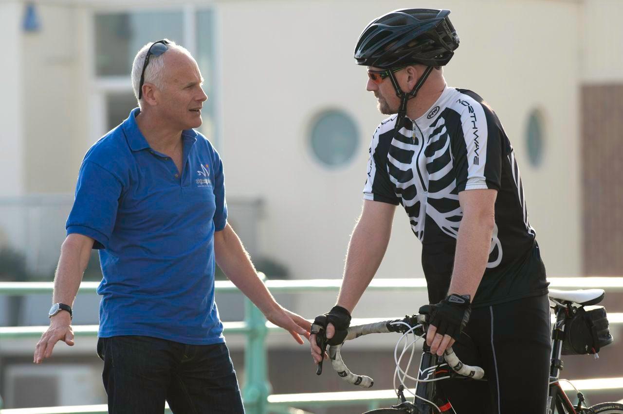 Keith Jackson in bike training