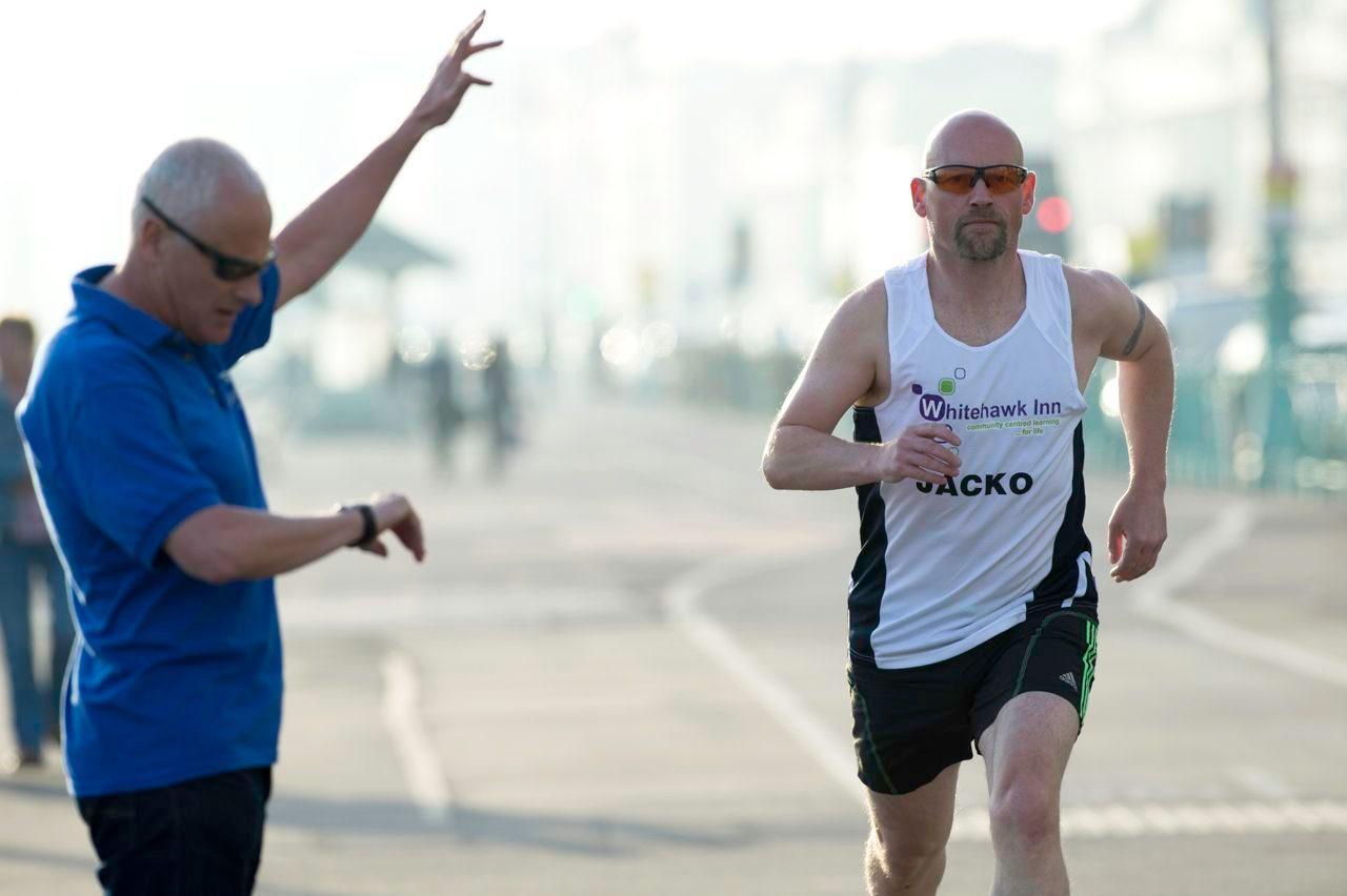 Keith Jackson in run training